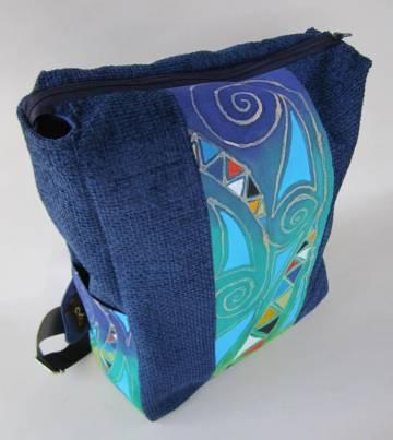 Egyedi , kézzel festett hátizsák