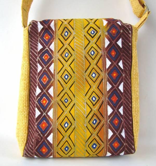 Egyedi festett táska - Afrika