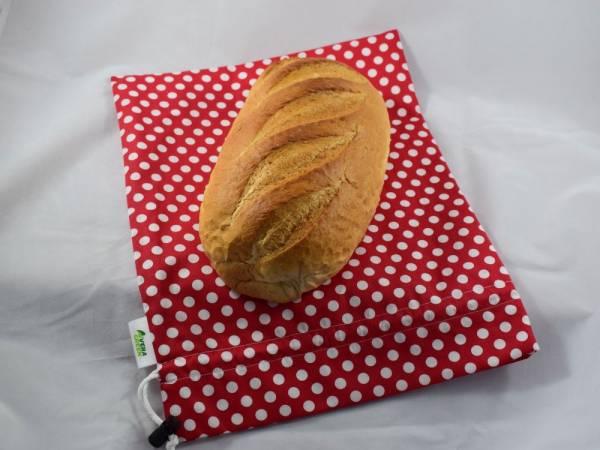 Nowaste, környezettudatos, bélelt kenyérzsák, vagy wetbag, S méret, pöttyös
