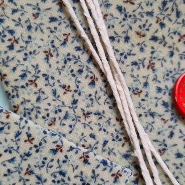 Méhviaszos csomagoló szett - kék