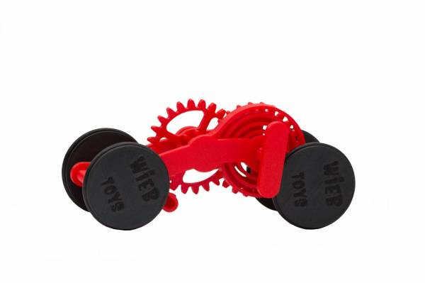 Wind-up Car kit, 16 pieces, Red