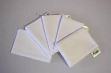 Mosható, pihe-puha textilzsebkendők, nowaste - 5 db.