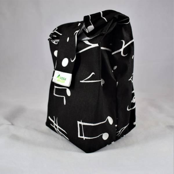 Uzsonnás táska és snackbag/nasitasik - kotta, fekete