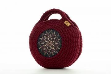 Bordó mandalás táska