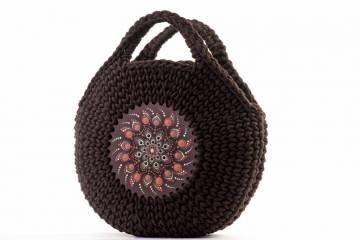 Barna mandalás táska