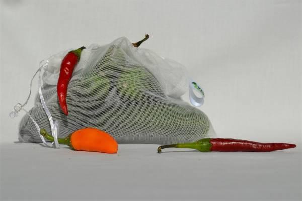 No waste tároló zsákocskák gyümölcsnek, zöldségnek, M méret- 3 db
